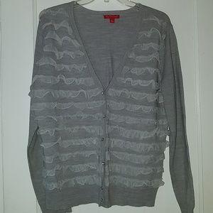 Women's gray cardigan